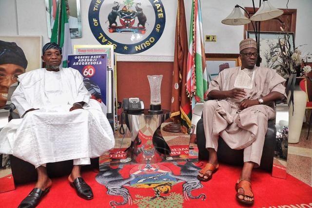 Kwara State Governor Ahmed Abdulfatah Visits Osun State Governor Rauf Aregbesola