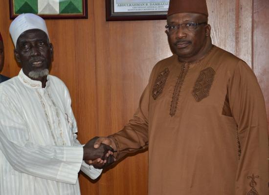 Minister of Interior, Lt Gen. (Rtd) Abdulrahman Bello Dambazau and the Chairman, Arewa People's Unity Association (APUA)