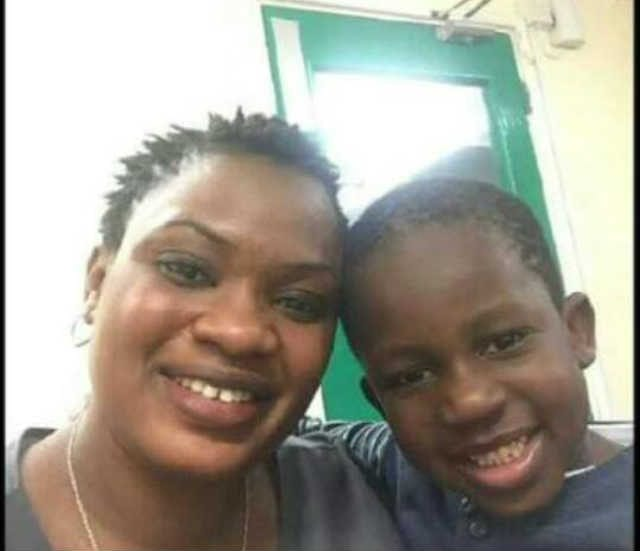 Monisola Bakre and his mum Shade Bakre both currently in the UK