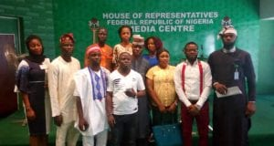 Nigerian Youth Parliament at the Nigerias House of Representative Media Centre Abuja
