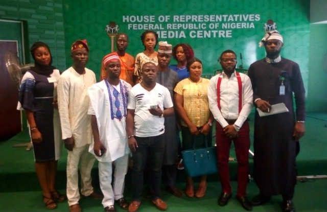 Nigerian Youth Parliament at the Nigerias House of Representative Media Centre Abuja