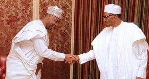 Nigeria's Senate President, Dr. Abubakar Bukola Saraki with President Muhammadu Buhari