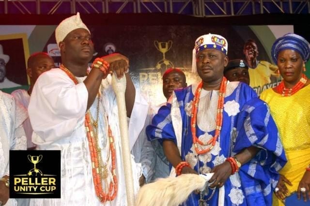 Ooni of Ife and Aseyin at the Peller Unity Cup 2017 Grand Finale