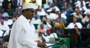 President Muhammadu Buhari at the National Assembly (NASS) Budget Presentation