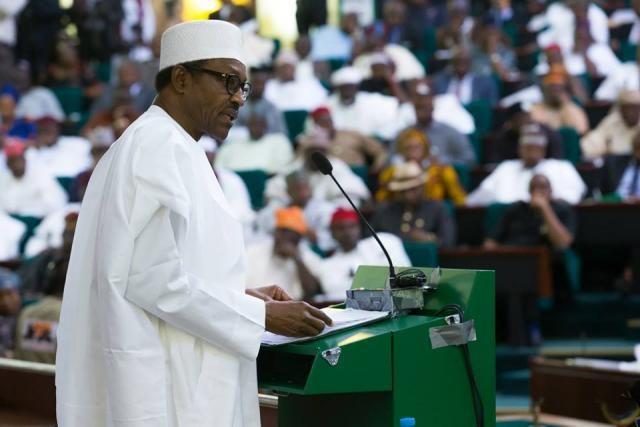 President Muhammadu Buhari at the National Assembly (NASS) Budget Presentation