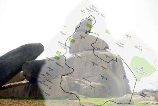 Riyom and Map of Plateau State