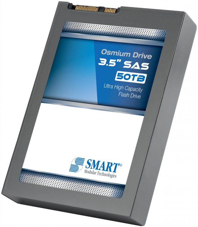 SMART Modular Introduces the 50TB Osmium Drive™, a 3.5 Inch MLC-Based SAS Solid State Drive