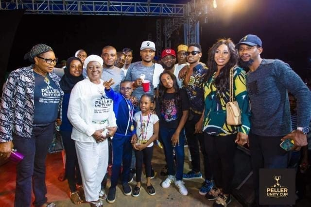 Shina Peller and Family at the Peller Unity Cup 2017 Grand Finale