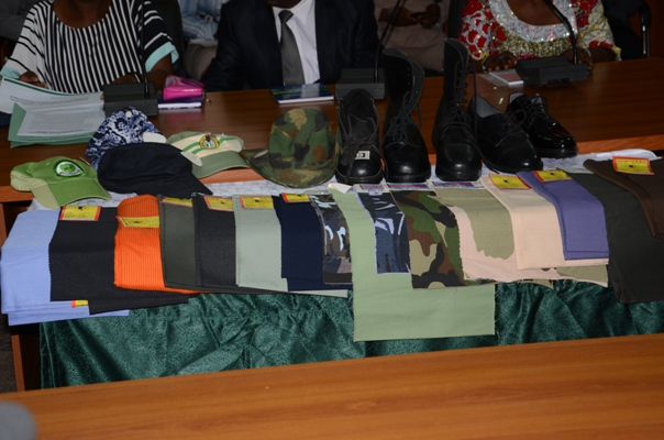 Showcasing Some Made-in-Nigeria Products like Uniforms, Foot wears, Berets