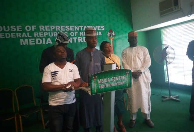 Some Members of the Nigerian Youth Parliament at the Nigerias House of Representative Media Centre, Abuja