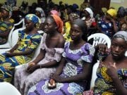 Some of the released Chibok School Girls abducted by Boko Haram Insurgents in Nigeria
