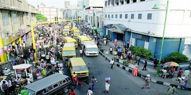 Street Traders, Pedestrians, Vehicles etc in Lagos State of Nigeria