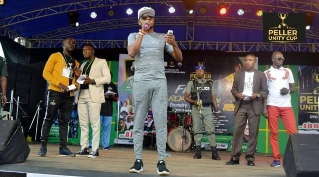 Shina Peller on stage at the Peller Unity Cup 2017 Grand Finale