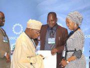 Mrs Saraki Kicking off UNGA 72 with Former Nigeria President, Olusegun Obasanjo at Concordia Summit