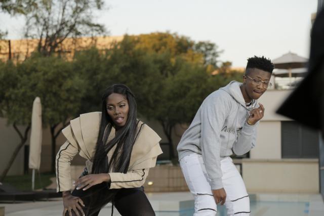 Nigerian Superstar Tiwa Savage with Emtee