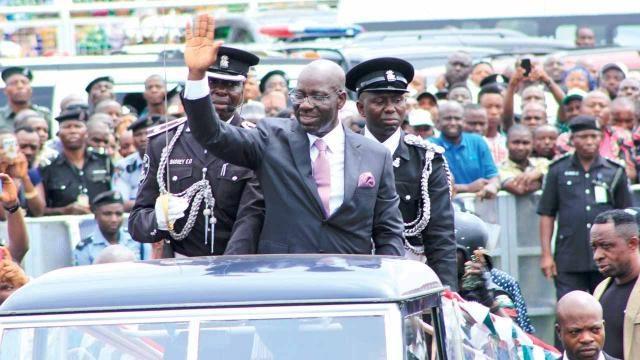 Governor Godwin Obaseki of Edo State on Parade
