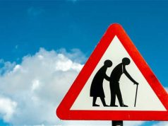 Care Homes Road Warning Sign