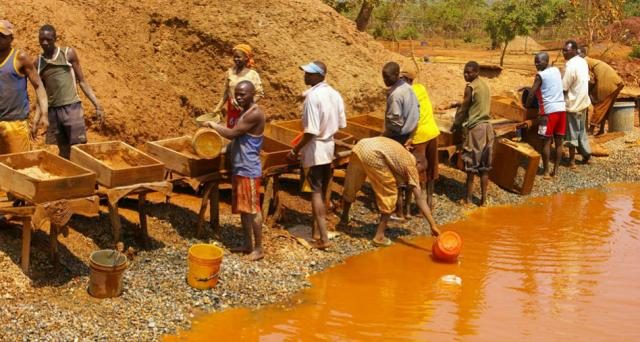 Some Artisanal Miners in Africa