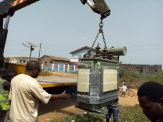 Buruji Kashamu donates new 500KVA Transformer to Egbe Community