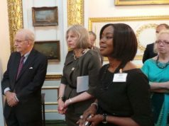 Founder-President of the WBFA, H.E Mrs Toyin Ojora Saraki and other Participants at the first Girl Summit 2014 in the UK - GED