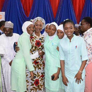 Founder-President of the WBFA, H.E Mrs Toyin Ojora Saraki with others - GED