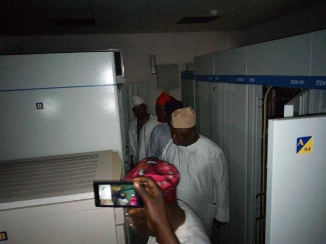 Hon Ladi Adebutu and other committee members inspects the facilities at Oniyanrin