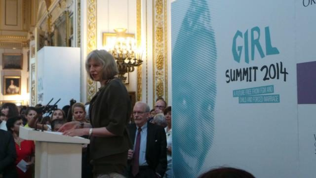 Participants at the first Girl Summit 2014 in the UK - GED