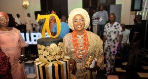 Shina Peller celebrates Mum, Alhaja Silifat Adeboyin Abeo -Lady Peller at 70