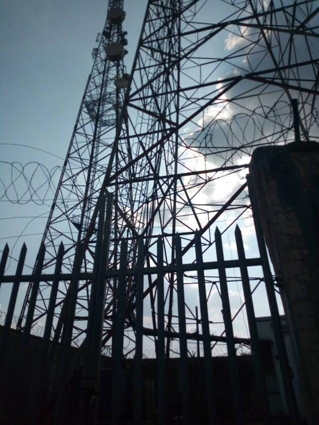 The telecommunication mast at Isara Remo, Ogun State