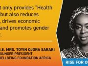 UHC Day - Her Excellency, Mrs Toyin Ojora Saraki named as Universal Health Coverage (UHC) Global Champion