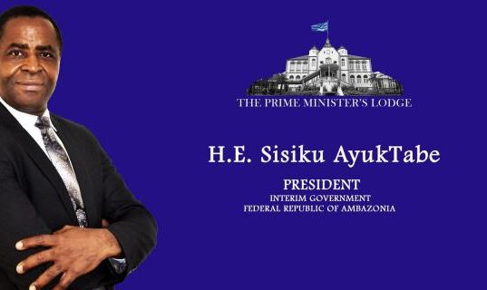 H.E. Sisiku Ayuk Tabe, President of The Federal Republic of Ambazonia