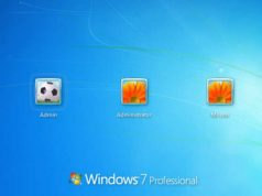 Windows 7 Professional Logon Screen