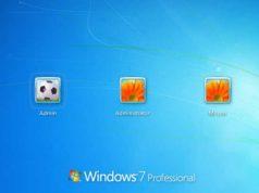 Windows 7 Professional Logon Screen