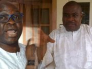 Ekiti State Governor Ayodele Fayose and Dr Tope Aluko