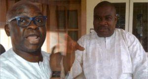 Ekiti State Governor Ayodele Fayose and Dr Tope Aluko