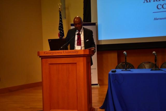 Senator Bukola Saraki delivering Keynote Address at Georgetown University, Washington D.C's Africa Business Conference (#GTABC2018)