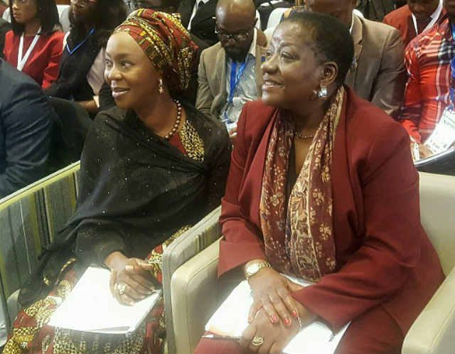 H.E Mrs Toyin Saraki with Ms. Bience Gawanas of Namibia - Special Adviser on Africa