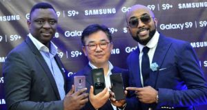 Public of Samsung Galaxy S9 and S9+ by Mr. Olumide Ojo, Mr. John Park and Mr. Bankole Wellington (Banky W)