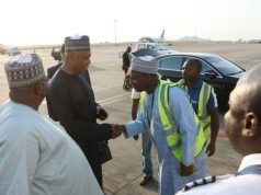 Senator Bukola Saraki departs Nigeria aboard Arik Air to address Ghanaian Parliament on Good Governance in Africa