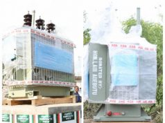 Two Power Transformers donated by Hon Ladi Adebutu to Idona Community (left) and Ogbere Community (right)