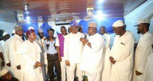 Hon Kamorudeen Ladi Adebutu addresses the worshippers