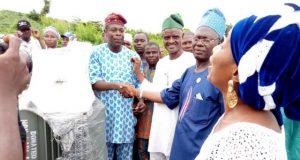 The transformer donated by Hon Ladi Adebutu to Eleja-Alagbayun Community