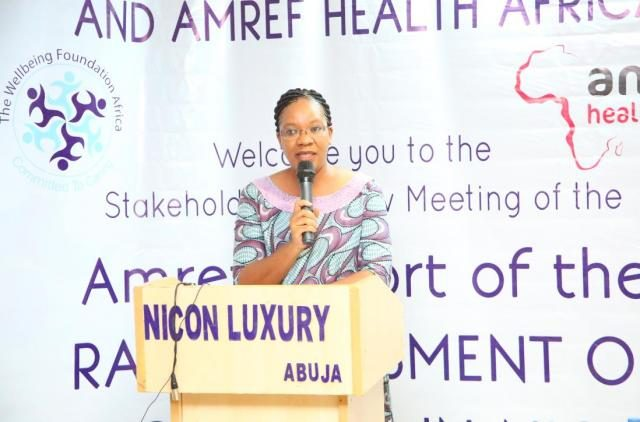 Wellbeing Foundation Africa CEO, Mrs Amy Oyekunle
