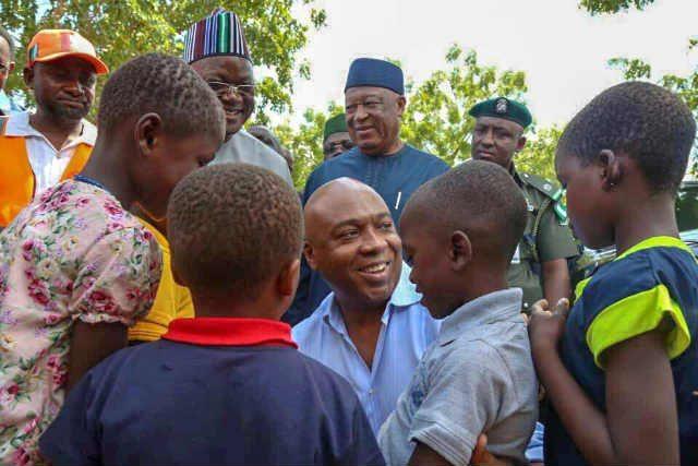 Children's Day 2018 - Senate President Bukola Saraki at the Abagena IDP Camp in Benue State