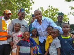 Children's Day 2018 - Senate President Bukola Saraki at the Abagena IDP Camp in Benue State