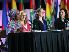 H.E. Mrs Toyin Ojora Saraki at the ICM Congress in Toronto, 2017