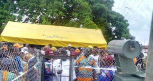 Hon Ladi Adebutu commissions the 500KVA transformer at Iperu Remo