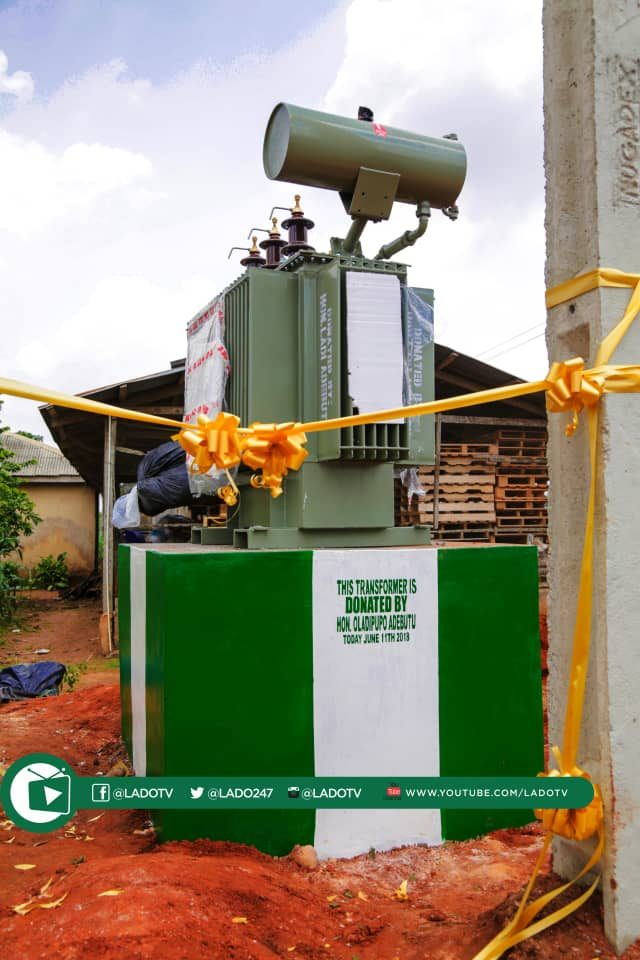 One of the 500KVA Transformers donated by Hon Ladi Adebutu to Sagamu Communities