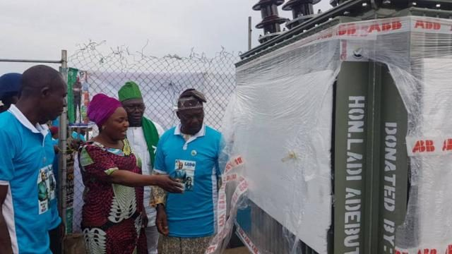 500KVA Transformer Donated by Hon Ladi Adebutu to Ogijo Residents