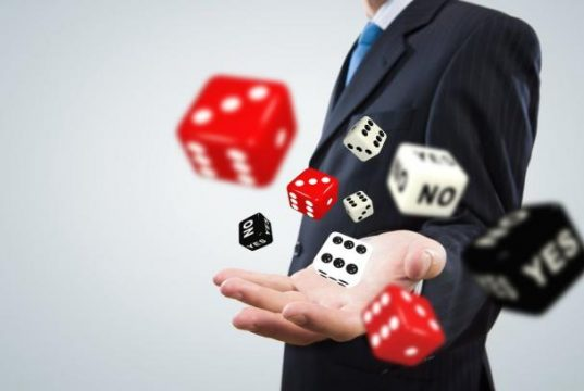 Man with Gambling Dices